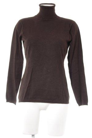 Hallhuber basic Maglione dolcevita marrone scuro stile casual