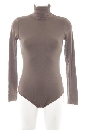 Hallhuber basic Shirtbody graubraun Casual-Look