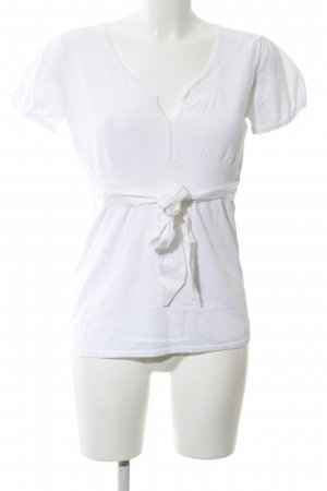 Hallhuber basic Strickshirt weiß Casual-Look