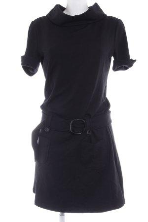 Hallhuber basic Vestido de tela de sudadera negro estilo sencillo