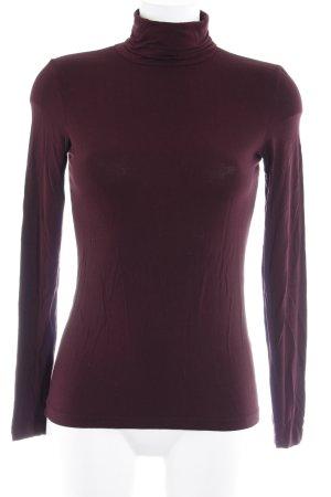 Hallhuber basic Sweatshirt brombeerrot Casual-Look