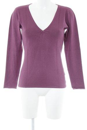 Hallhuber basic V-Ausschnitt-Pullover purpur Casual-Look