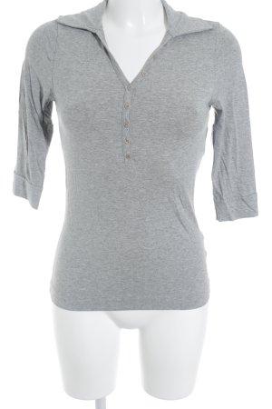 Hallhuber basic V-Ausschnitt-Shirt hellgrau Casual-Look