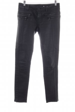 Hallhuber Biker jeans zwart wetlook