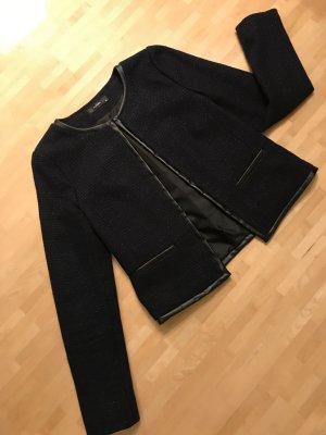 Hallhuber Blazer in tweed blu scuro-nero