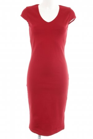 Hallhuber Robe crayon rouge foncé style simple
