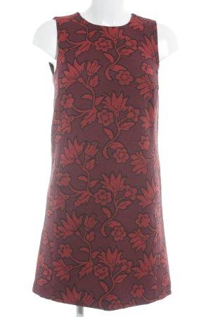 Hallhuber Bleistiftkleid purpur-rot Blumenmuster Casual-Look