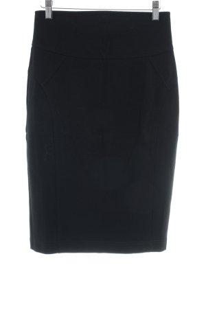 Hallhuber Falda de tubo negro look casual