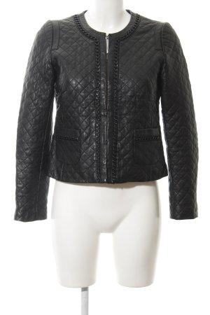 Hallhuber Blouson black quilting pattern extravagant style