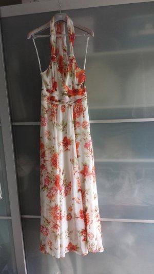 Hallhuber Blumen Seidenkleid/ Neu
