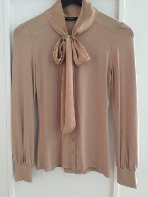 Hallhuber Bluse aus T-Shirt Strech mit Satinschleife
