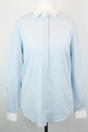 Hallhuber Bluse Gr. 34 blau weiß