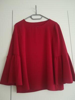 Hallhuber Tie-neck Blouse dark red