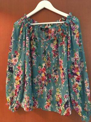 Hallhuber-Bluse Größe S mit Blumenmuster
