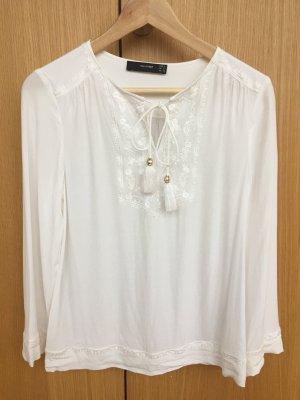 *Hallhuber* Bluse in Weiß