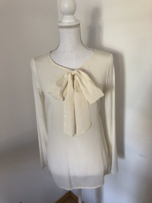 Hallhuber Tie-neck Blouse natural white-cream