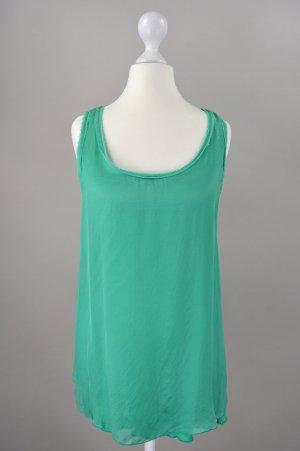 Hallhuber Bluse Seidenbluse grün Größe S