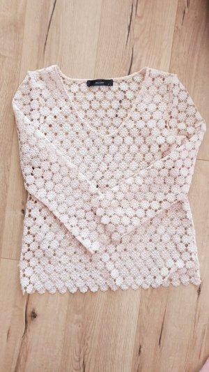 Hallhuber Bluse Spitze Oberteil Tunika Shirt Creme S