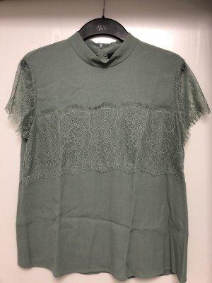 Hallhuber Bluse Top Shirt Spitze Stehkragen Gr. 38 Np 89 Euro