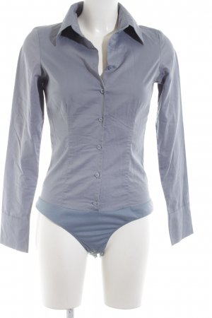 Hallhuber Blusen-Body blau Casual-Look