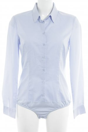 Hallhuber Blusen-Body himmelblau Business-Look