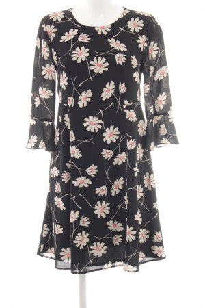 Hallhuber Blouse Dress flower pattern transparent look