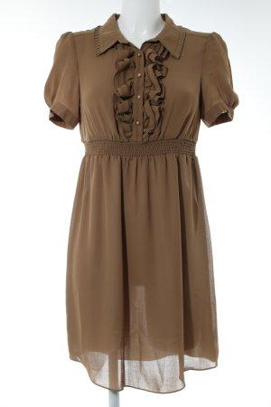 Hallhuber Blusenkleid bronzefarben Casual-Look