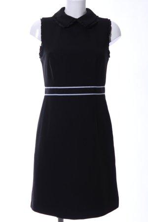Hallhuber Blusenkleid schwarz-weiß Streifenmuster Business-Look