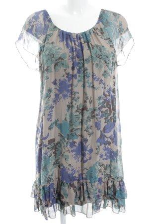 Hallhuber Blusenkleid florales Muster Schleifen-Detail