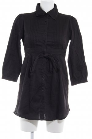 Hallhuber Robe chemisier noir style décontracté