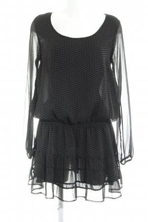 Hallhuber Blusenkleid schwarz Punktemuster Boho-Look