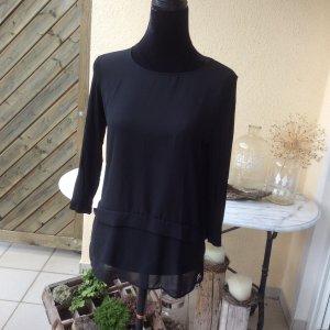 Hallhuber Blusenshirt in schwarz Gr.M