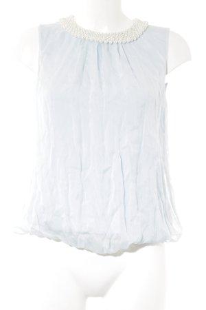 Hallhuber Blusentop himmelblau-weiß Elegant