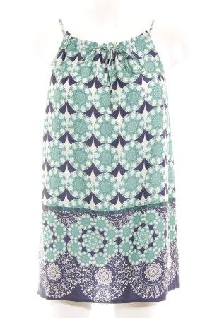 Hallhuber Blusentop kadettblau-dunkelblau Ornamentenmuster Casual-Look