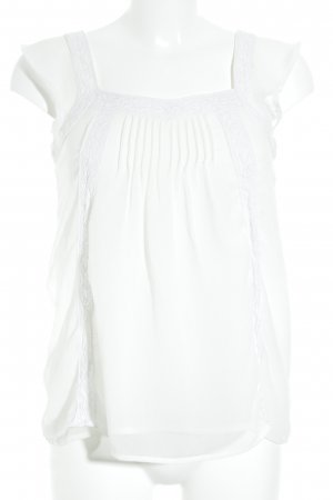 Hallhuber Blouse Top white Boho look
