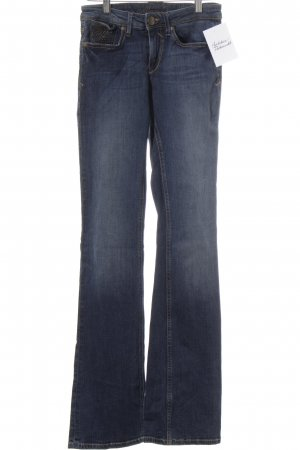 Hallhuber Boot Cut Jeans dark blue-natural white washed look