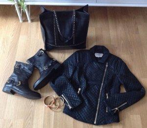 Hallhuber Boots Stiefeletten mit Goldenen Highlights Neu Gr 39 Blogger Fashion
