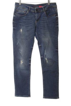 Hallhuber Jeans boyfriend bleu style décontracté