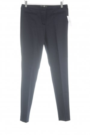 Hallhuber Bundfaltenhose dunkelblau Business-Look