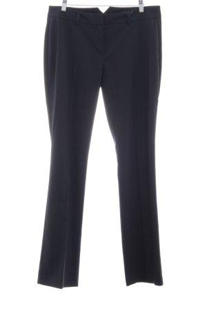 Hallhuber Bundfaltenhose dunkelblau Nadelstreifen Business-Look