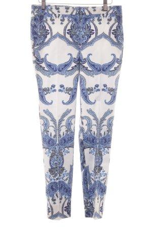 Hallhuber Pantalon à pinces motif floral