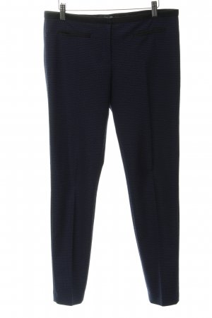 Hallhuber Pantalon à pinces noir-bleu motif abstrait élégant