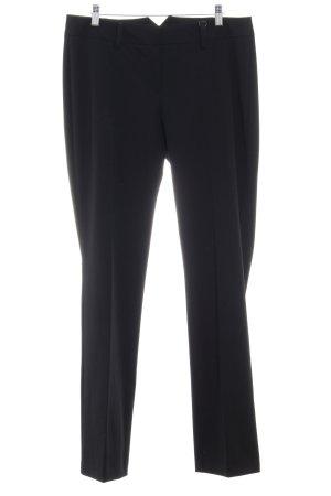 Hallhuber Pantalone a pieghe nero stile professionale
