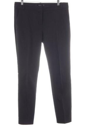 Hallhuber Pantalon à pinces noir style d'affaires