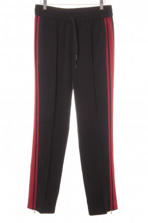 Hallhuber Pleated Trousers black-red athletic style