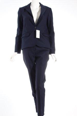 Hallhuber Business-Anzug dunkelblau Business-Look