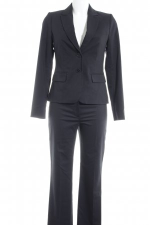 Hallhuber Business Suit dark blue-white striped pattern business style