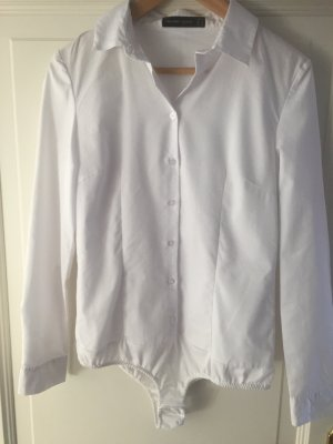 Hallhuber Bodysuit Blouse white cotton
