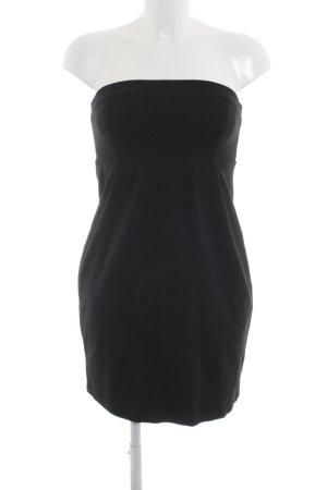 Hallhuber Vestido bustier negro look casual