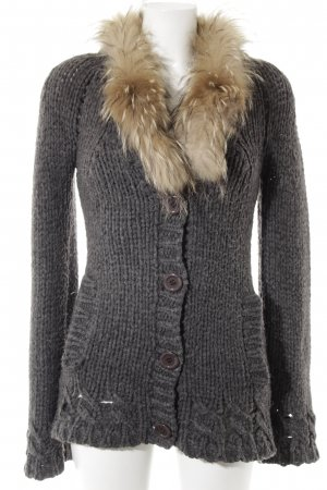 Hallhuber Cardigan anthrazit Casual-Look
